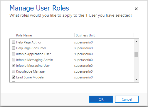 Manage Users and roles