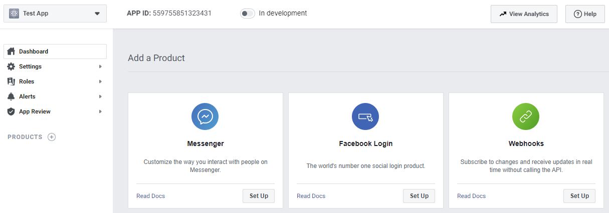 Create app - Messenger