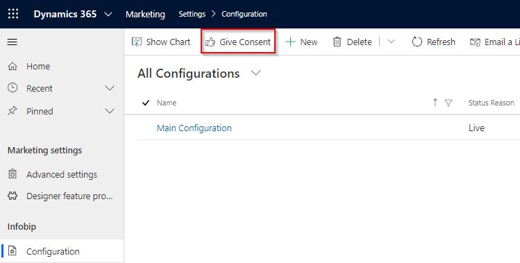 Microsoft Dynamics 365 Infobip - configuration