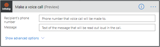 Microsoft Power Automate - Make a voice call