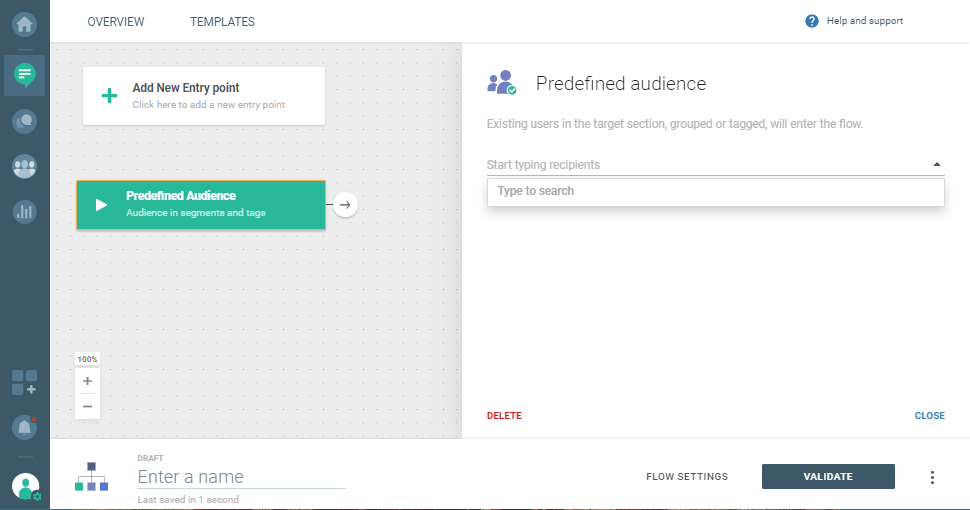 predefined audience for personalized communication