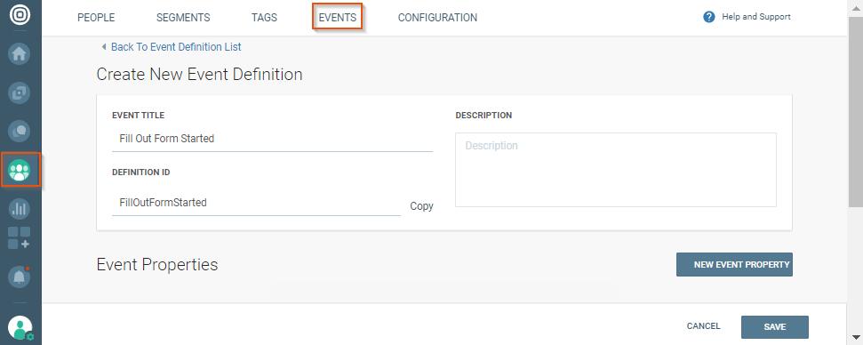 event definition on communication platform