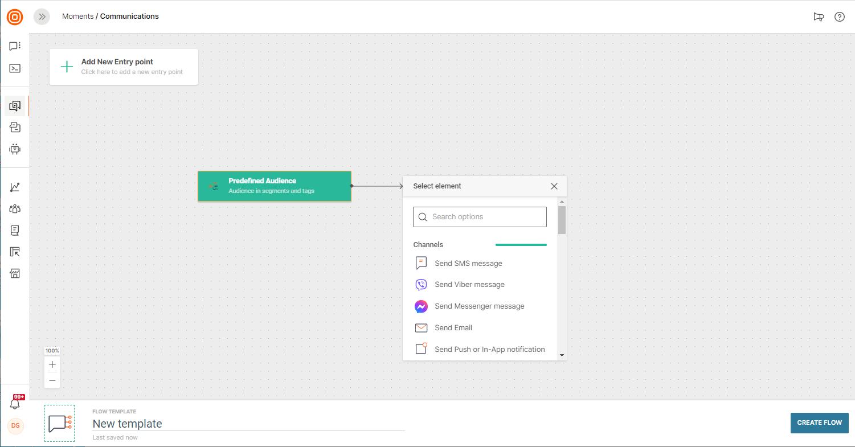 new template on customer platform