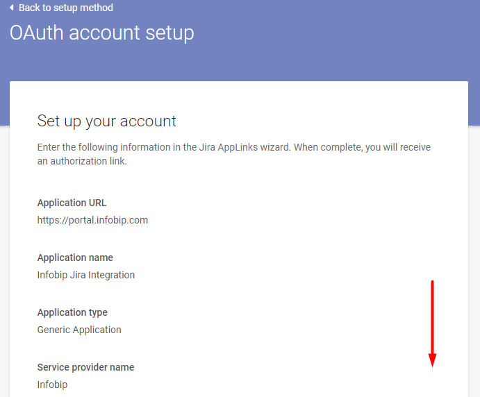 OAuth account setup - connect Jira to Infobip
