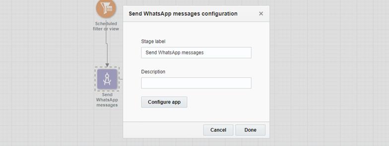 Send WhatsApp messages configuration