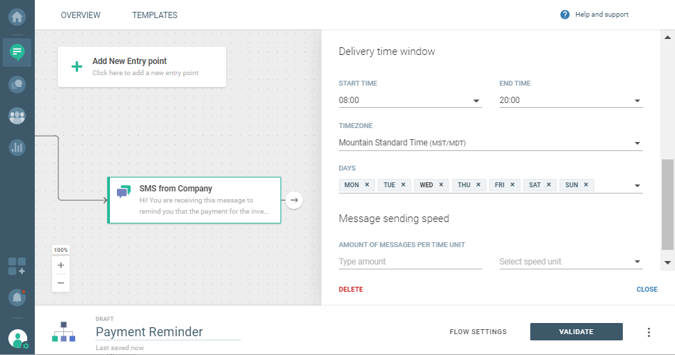 sending SMS over cpaas