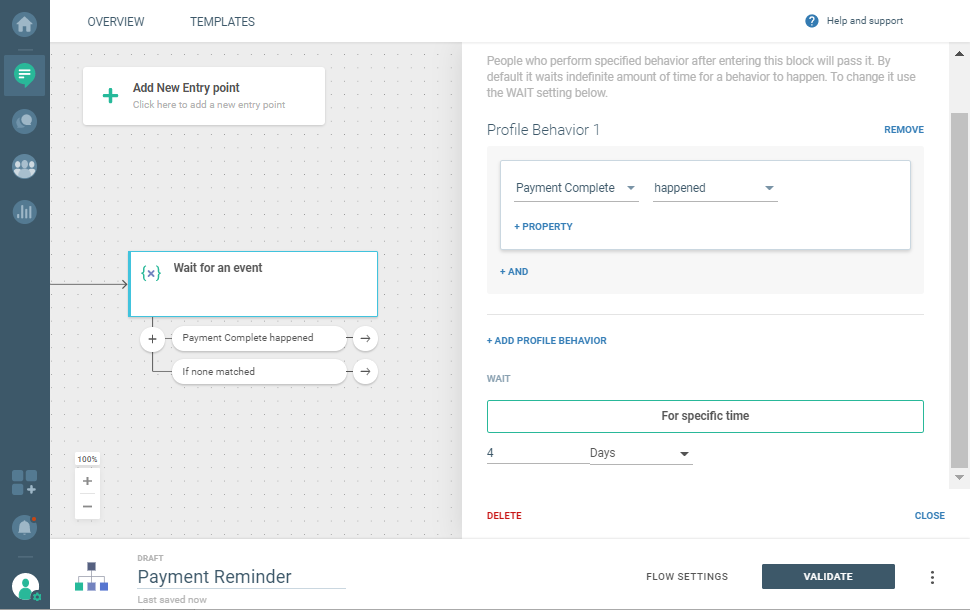 events for payment reminders