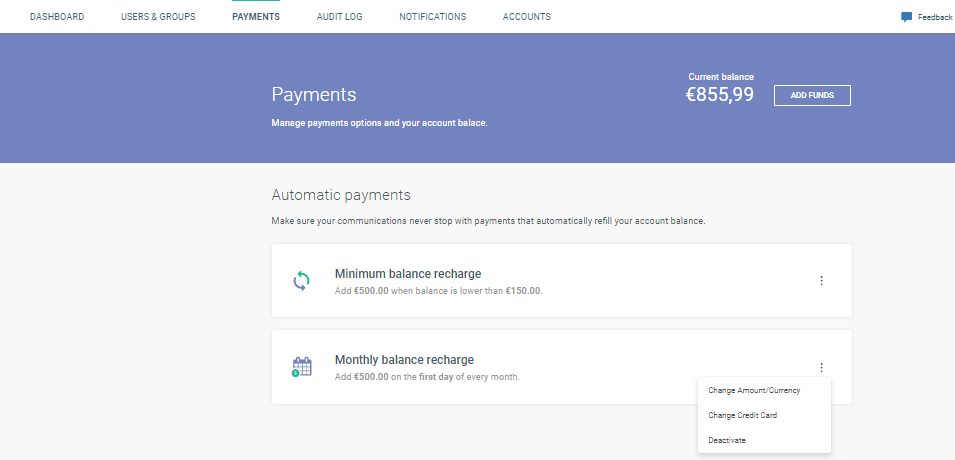 finalizing financial transaction on cpaas