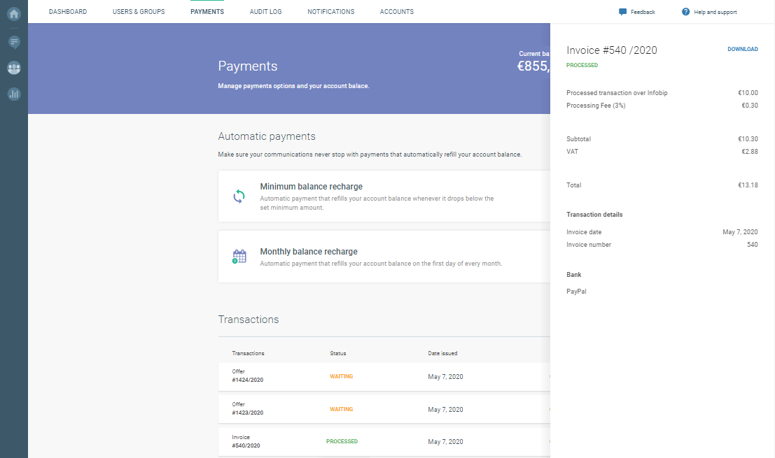 payment options on cpaas