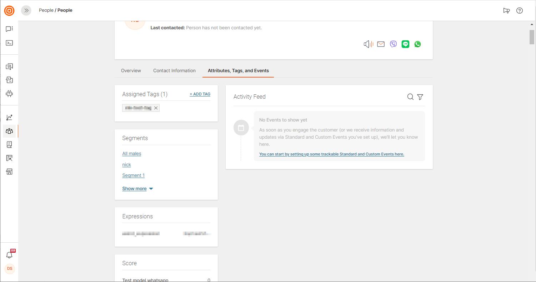 audience segmentation shown on data platform