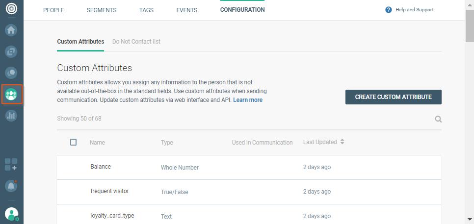 custom attributes on data platform
