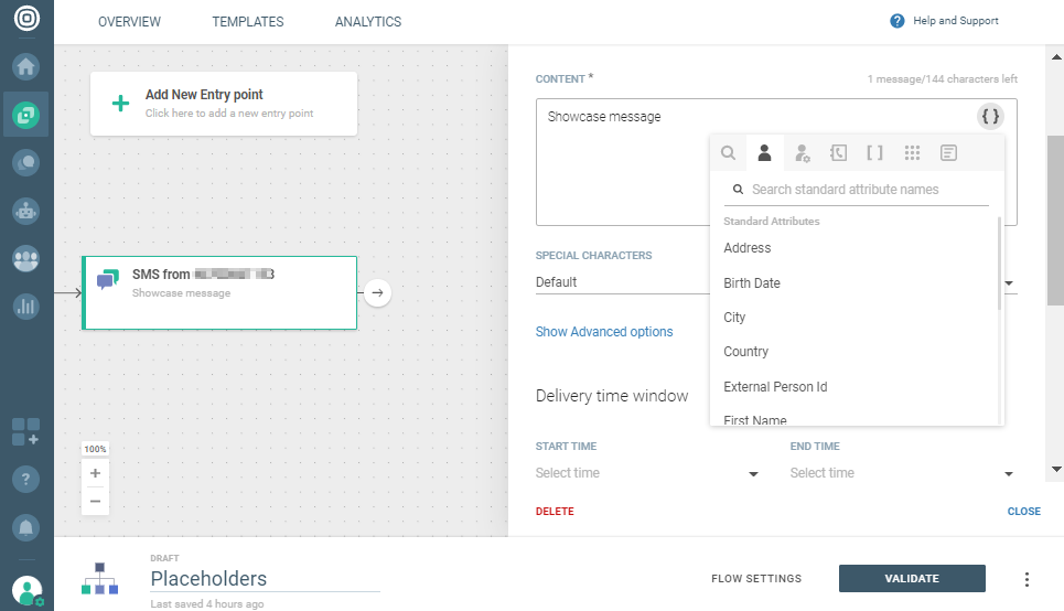 personalization using placeholders