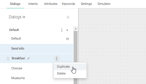 Rename dialog in Answers