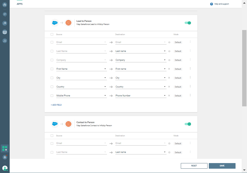 integration between cpaas and salesforce