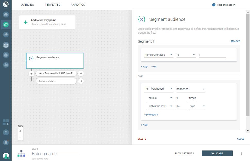 audience segmentation on customer engagement platform
