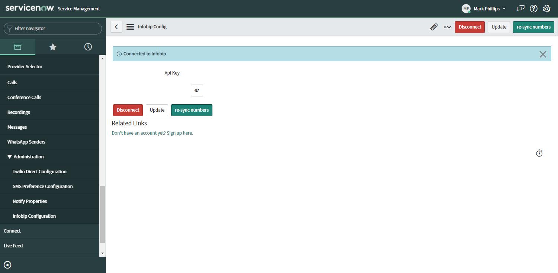 ServiceNow - Infobip Configuration