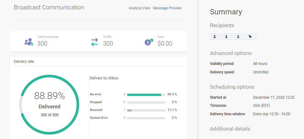 analyze send optimization