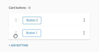 Reorder rich card buttons