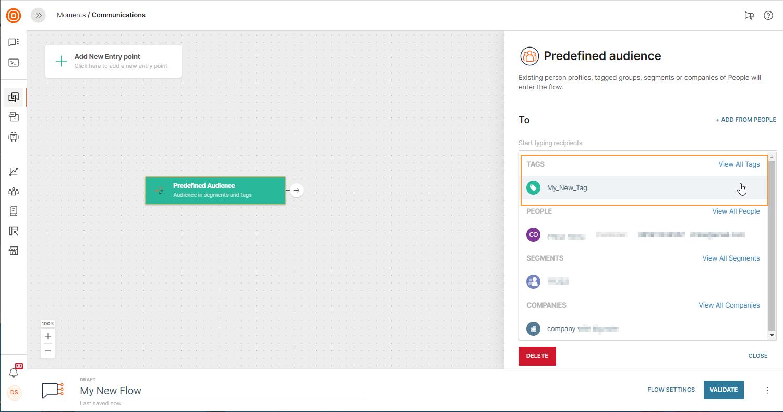 audience tags on data platform