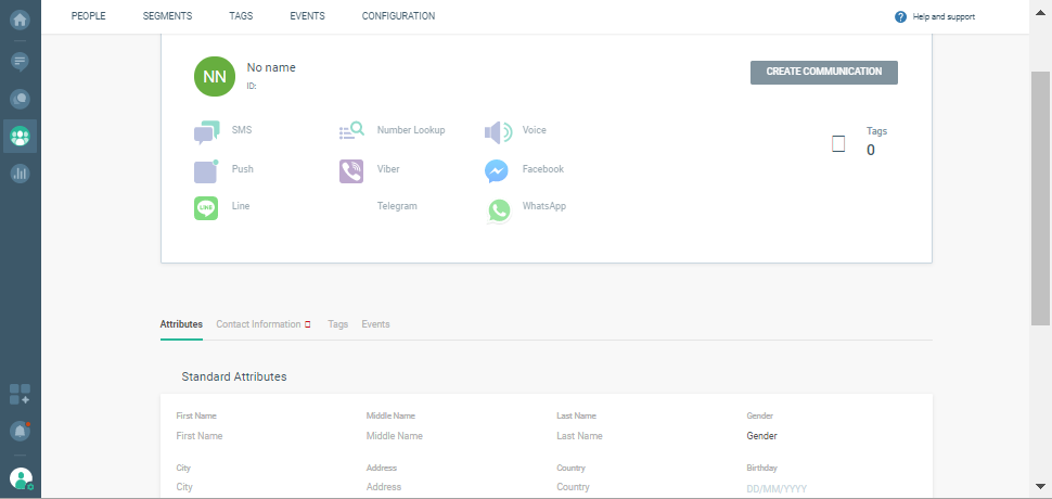 creating contact information on cpaas