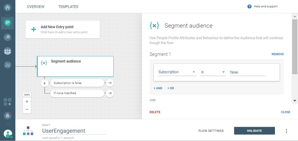 audience segments on communication platform