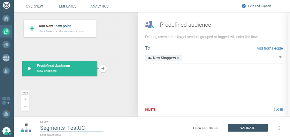 predefined audience trigger on cpaas