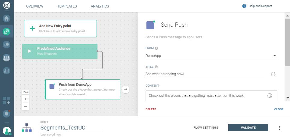 sending push on communication platform