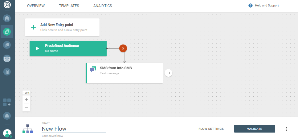 selecting communication options in saas