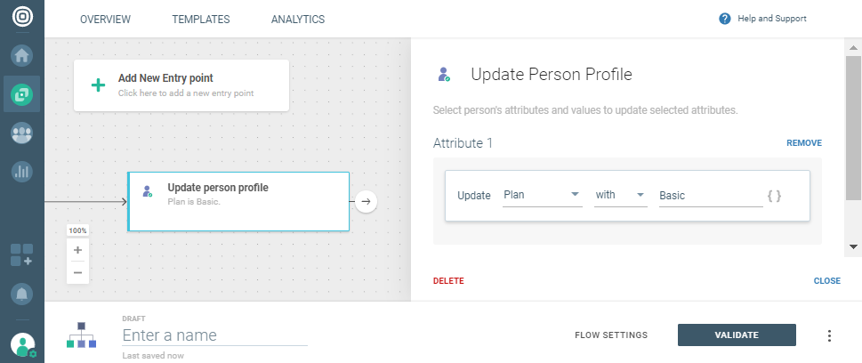 update profile with static value