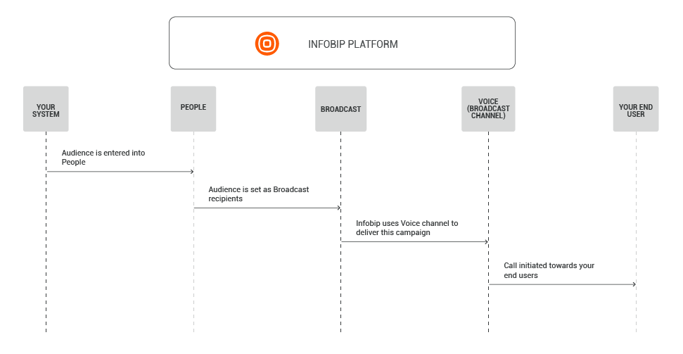 Voice use case - Promotional - process flow