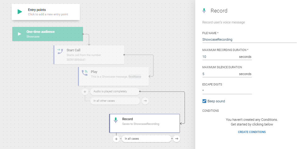 recording voice for saas communication