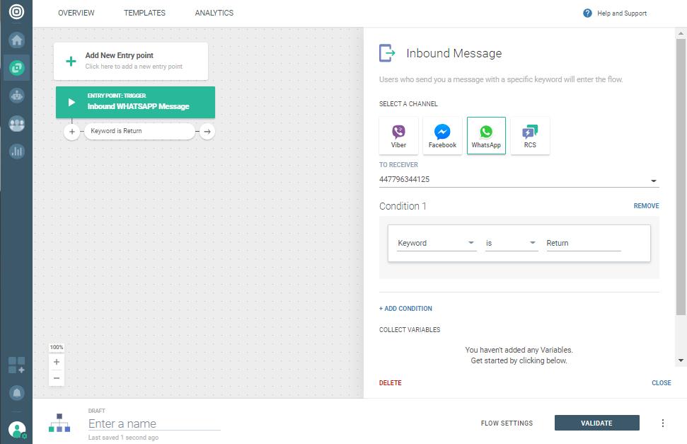 Send Return Shipping - add inbound message element