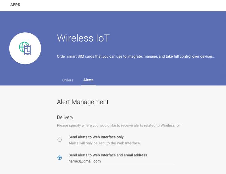Alert management with wireless IoT